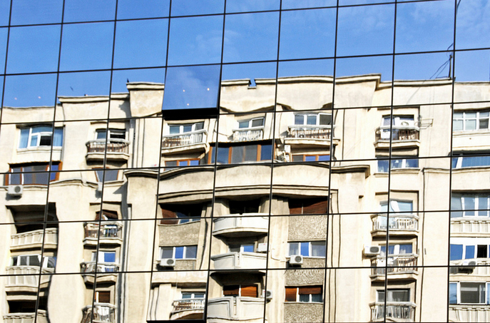 apatment-building-reflected
